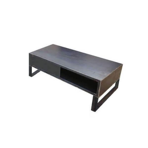 Mobilier acier brut meuble tv for Meuble tv 120