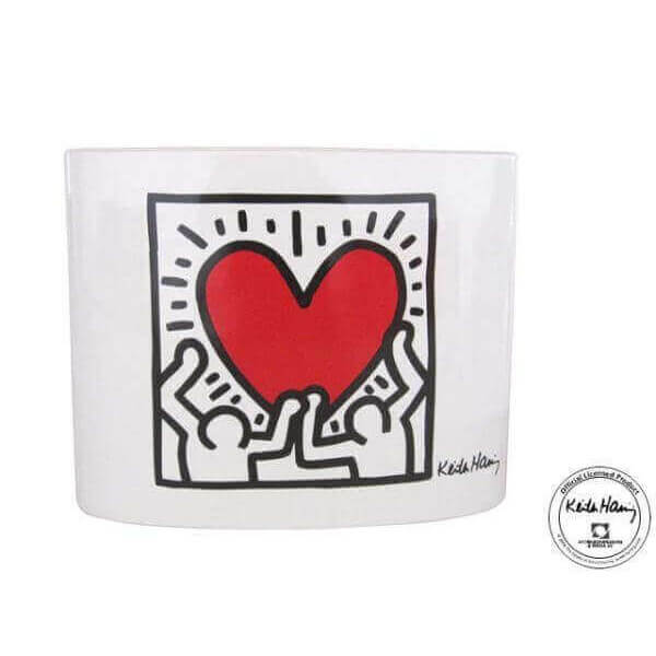 Vase Keith Haring Men With Heart