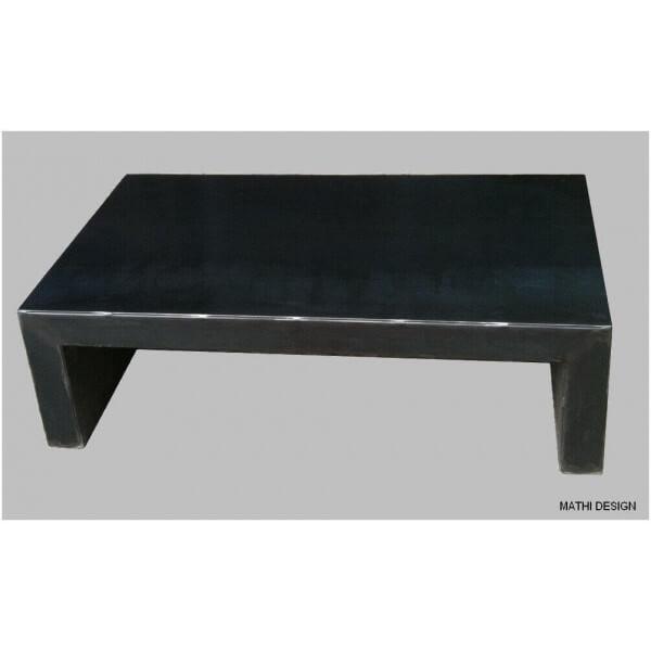 Table basse acier massif