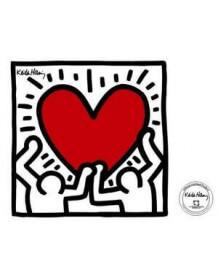Sticker Men with Heart de K.Haring