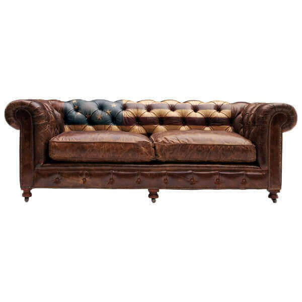Canape chesterfield cuir vieilli 28 images canap 233 for Canape chesterfield occasion
