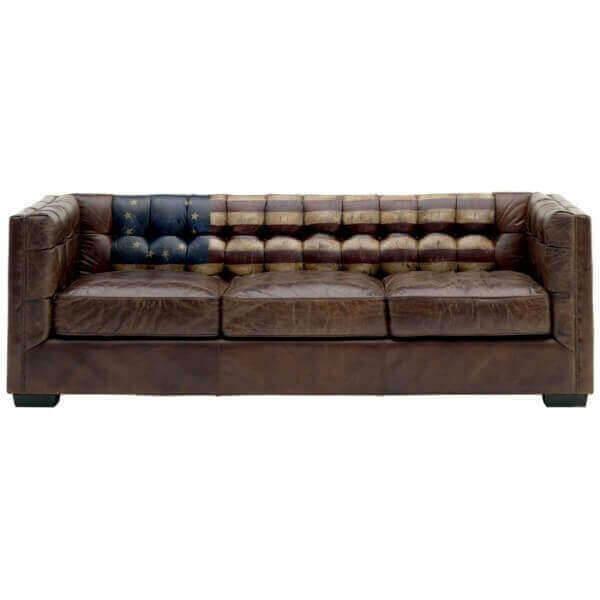 Canapé en cuir vieilli 187