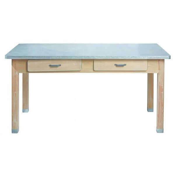 Zinc kitchen dining table for Kitchen zinc design