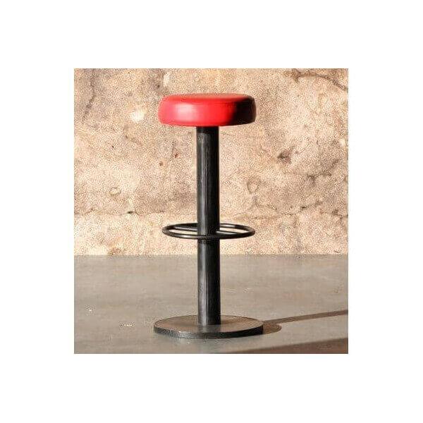 tabouret de bar steel industriel. Black Bedroom Furniture Sets. Home Design Ideas