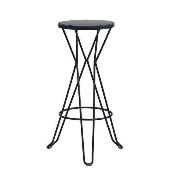 tabouret haut madrid mobilier en acier ext rieur et int rieur tendance industrielle et color. Black Bedroom Furniture Sets. Home Design Ideas
