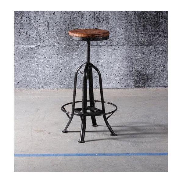 tabouret r glable d 39 atelier industriel. Black Bedroom Furniture Sets. Home Design Ideas