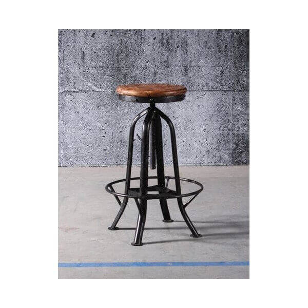 tabouret r glable d 39 atelier industriel. Black Bedroom Furniture Sets. Home Design Ideas