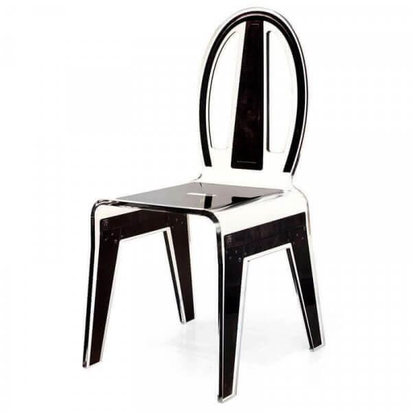 acrila chaise design industrielle transparente en acylique. Black Bedroom Furniture Sets. Home Design Ideas