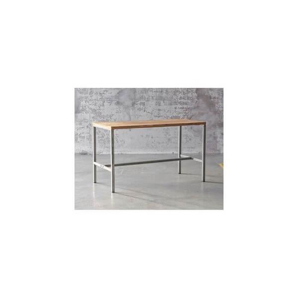 Table De Bar Arri Mange Debout En Bois Et Acier Industriel Au Design Sobre Pour L 39 Int Rieur