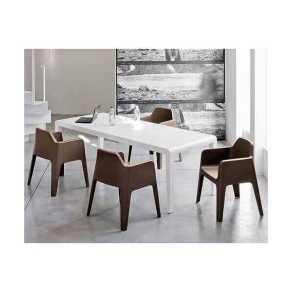 fauteuil de table pedrali chaise d 39 exterieur empilable. Black Bedroom Furniture Sets. Home Design Ideas