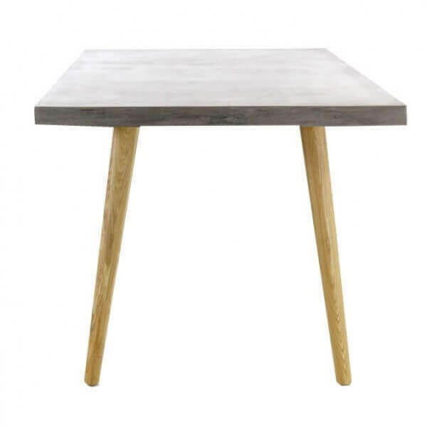 Table bois beton for Pietement de table en bois