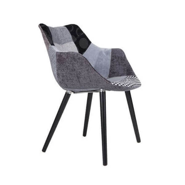 Grey and black Patchwork chair