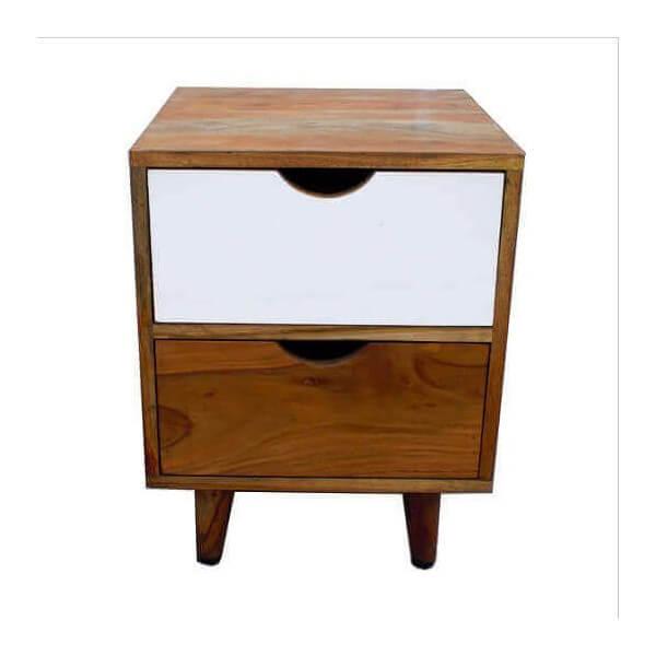 chevet nordique moderne en bois au design scandinave. Black Bedroom Furniture Sets. Home Design Ideas