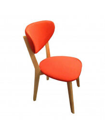 Chaise repas pop orange