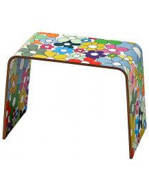 Table d'appoint en bois coloré Flower