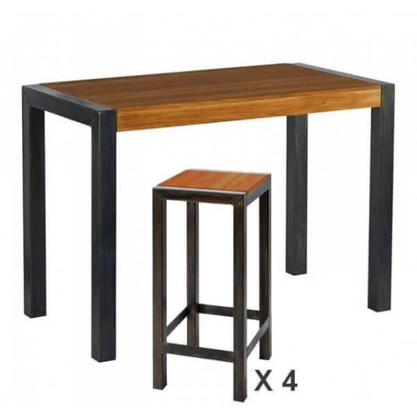 Dining Low High Tables In Concrete Wood Steel Mathi Design