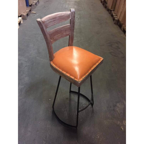 Orange pub barstool