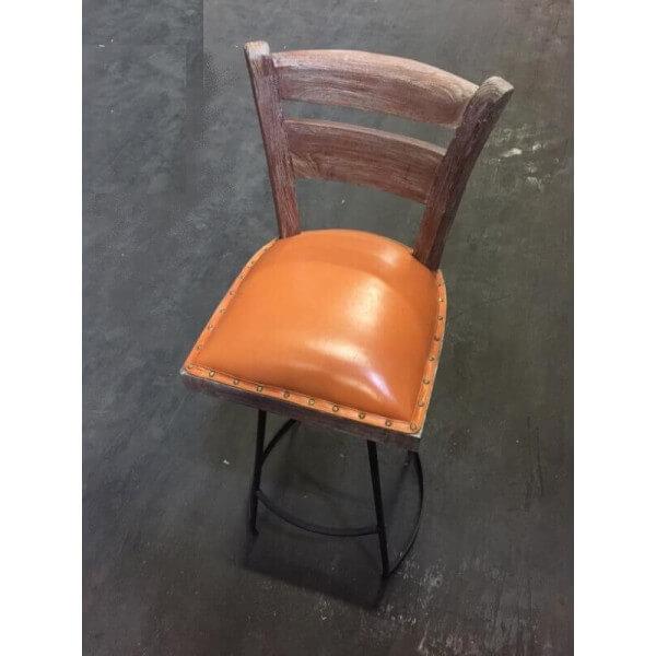 Chaise haute bois et acier for Chaise haute design bois