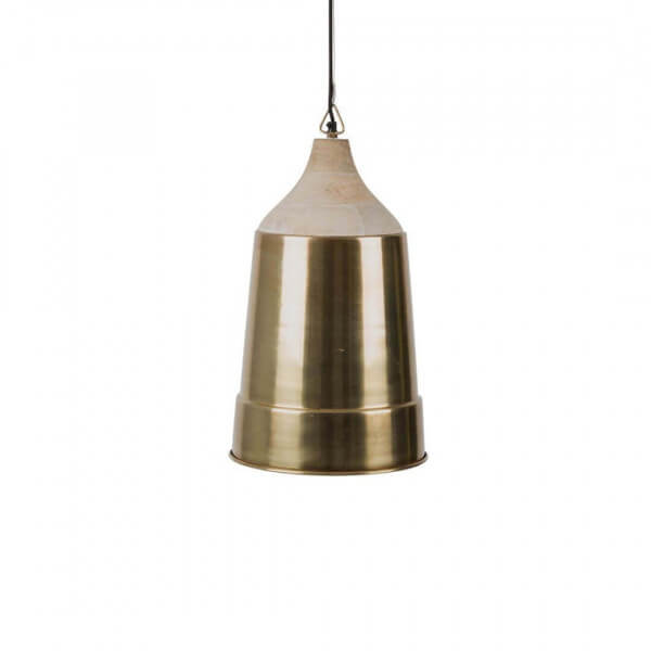 Wood And Brass Pendant Lamp