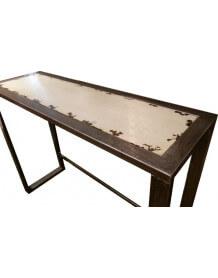 Console métal acier et bois Ivoire