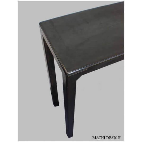 Console acier industriel mobilier acier brut - Console metal industriel ...