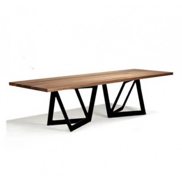 Table Repas Acier Bois Original