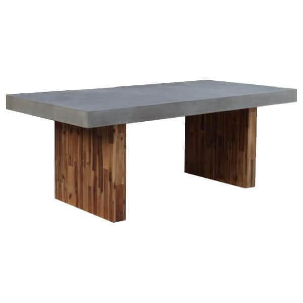 Table repas Béton bois
