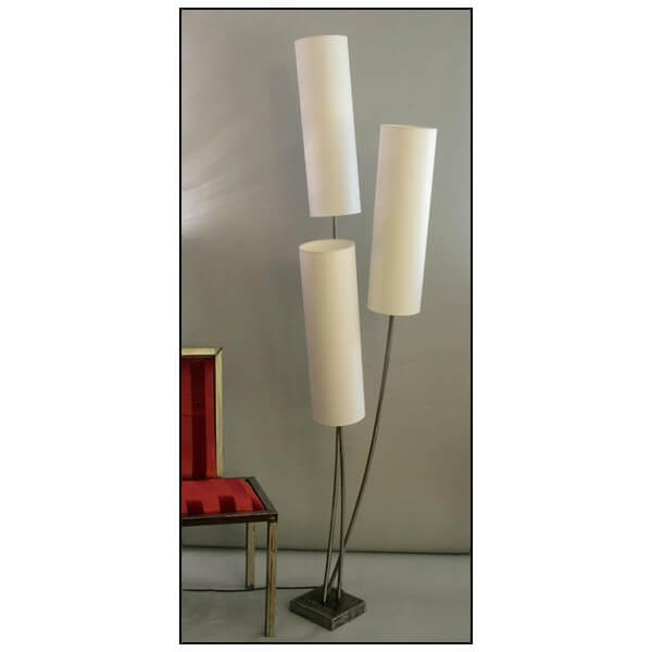 Lampadaire design 3 branches luminaires contemporains for Lampadaire retro exterieur