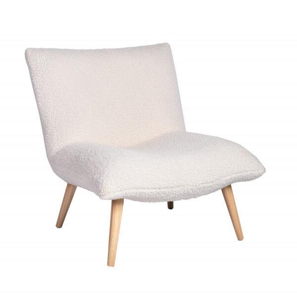 Fauteuil salon Polard Blanc