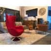 Fauteuil design pop rouge