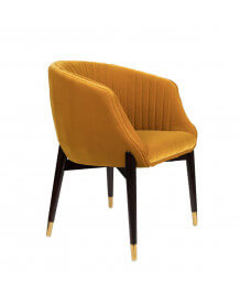 Chaise Dolly velours Jaune