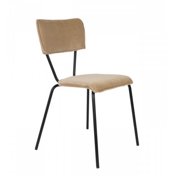 Chaise tissu sable dutchbone