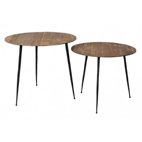 Set de 2 Tables rondes Pepper