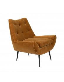 Velvet lounge chair Glodis