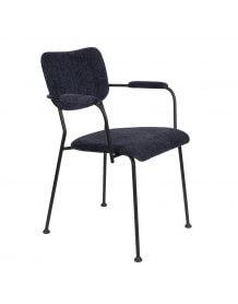 Chaise accoudoirs Benson bleu
