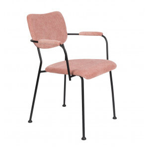Chaise accoudoirs Benson rose