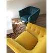 Cosy Yellow velvet armchair