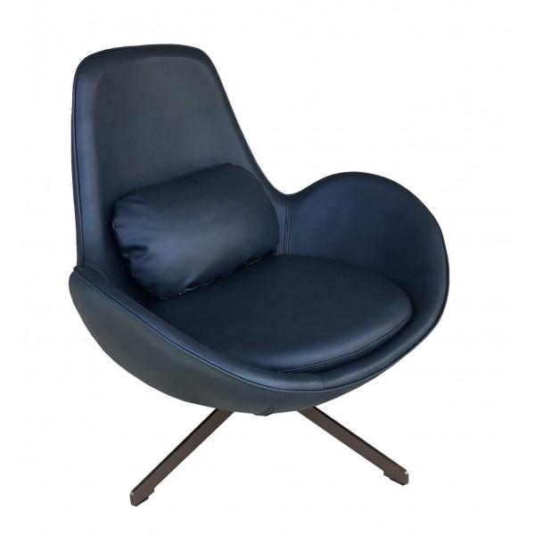 Simili leather design armchair