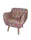 LULEA - Hippie style fabric armchair