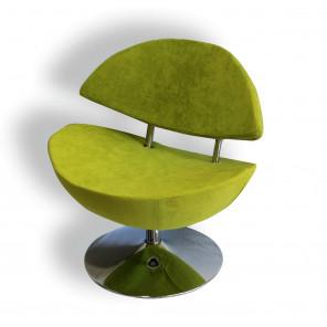 Green velvet design chair