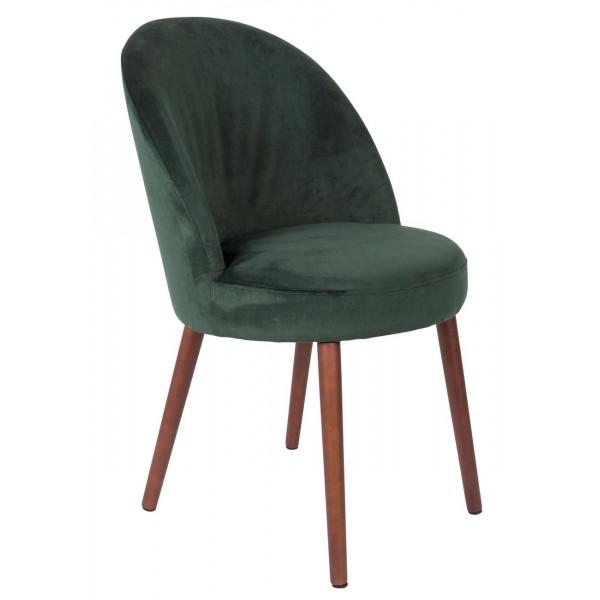 Green Velvet dining chair Barbara