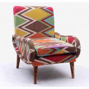 Colored Kilim armchair