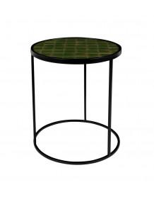 Table ronde Glazed verte