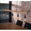suspension industrielle Wooden