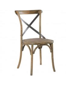Chaise bistrot chêne bois acier brasserie
