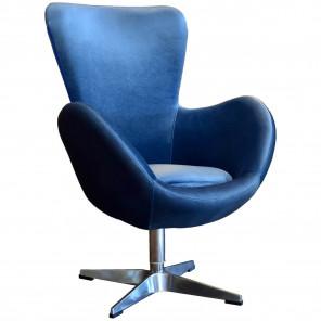 blue velvet design armchair