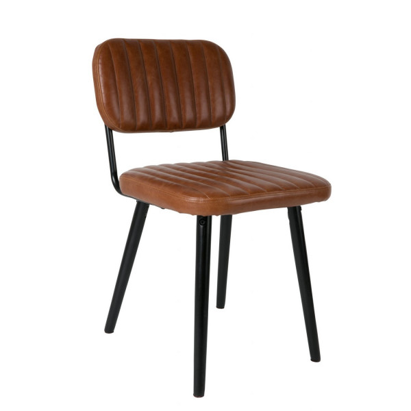 Chaise repas marron
