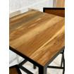 Table haute bois industrielle 70