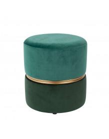Pouf Art deco turquoise/vert