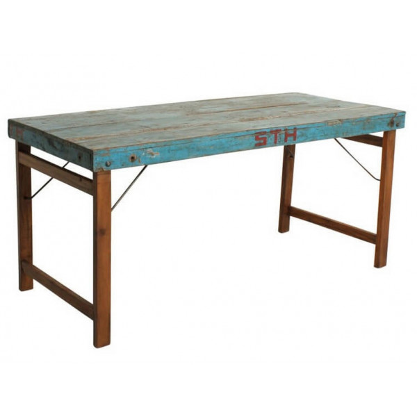 VINTAGE - Blue folding table